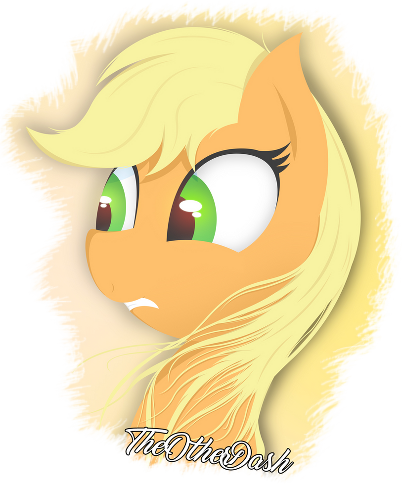 Applejack Hair Down by TheOtherDash