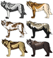 Canine Adoptables May [2/6 OPEN] by StarCanid