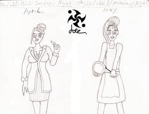 April and May doodle