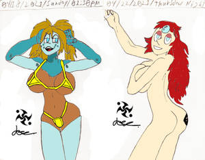 Jenoshi Bikini and Mars the Pearl.