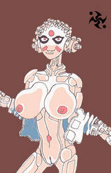 Robot babe from NYC Mech.