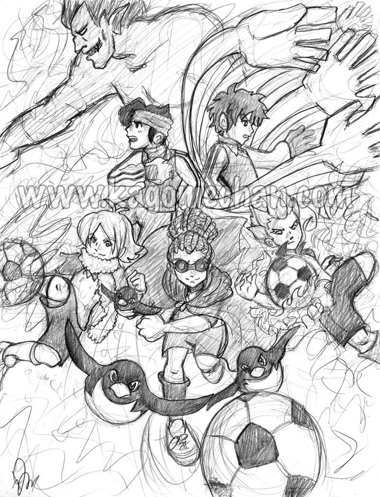 inazuma eleven colouring pages