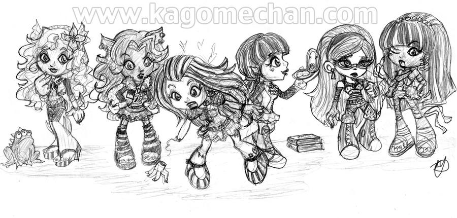 monster high chibi group by i heart link