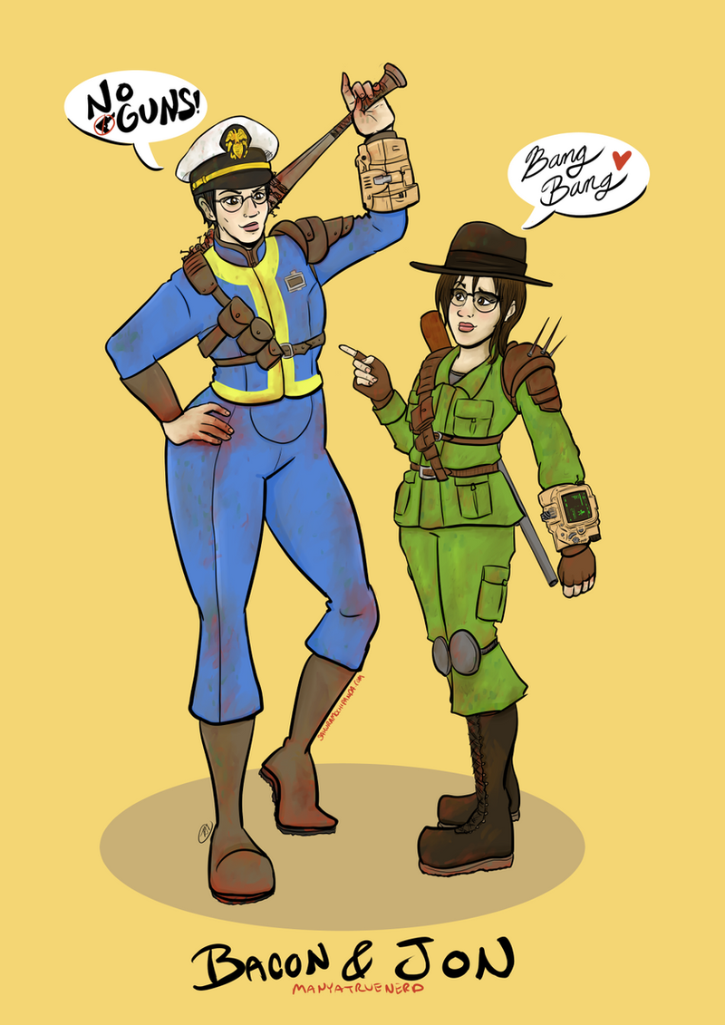 Fallout 4: Bacon and Jon by I-heart-Link