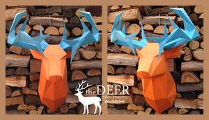 Deer Trophyhead Papercraft