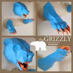 Grizzly Bear Trophyhead Papercraft