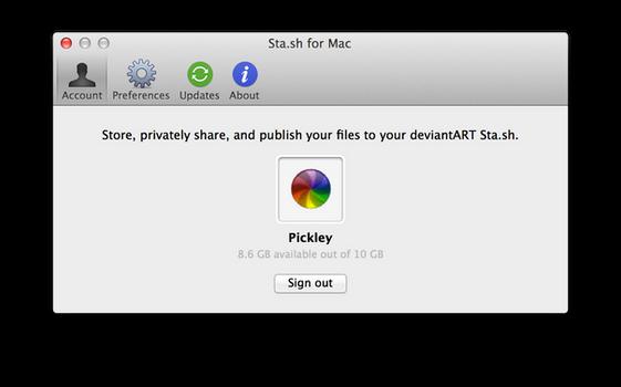 Sta.sh for Mac