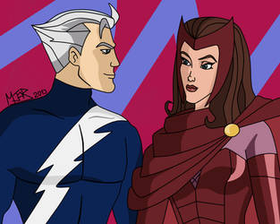 The Maximoff twins by Mj0r