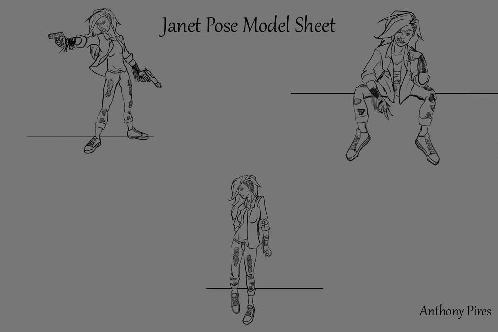 Janet- Poses by ArbiterAntwan