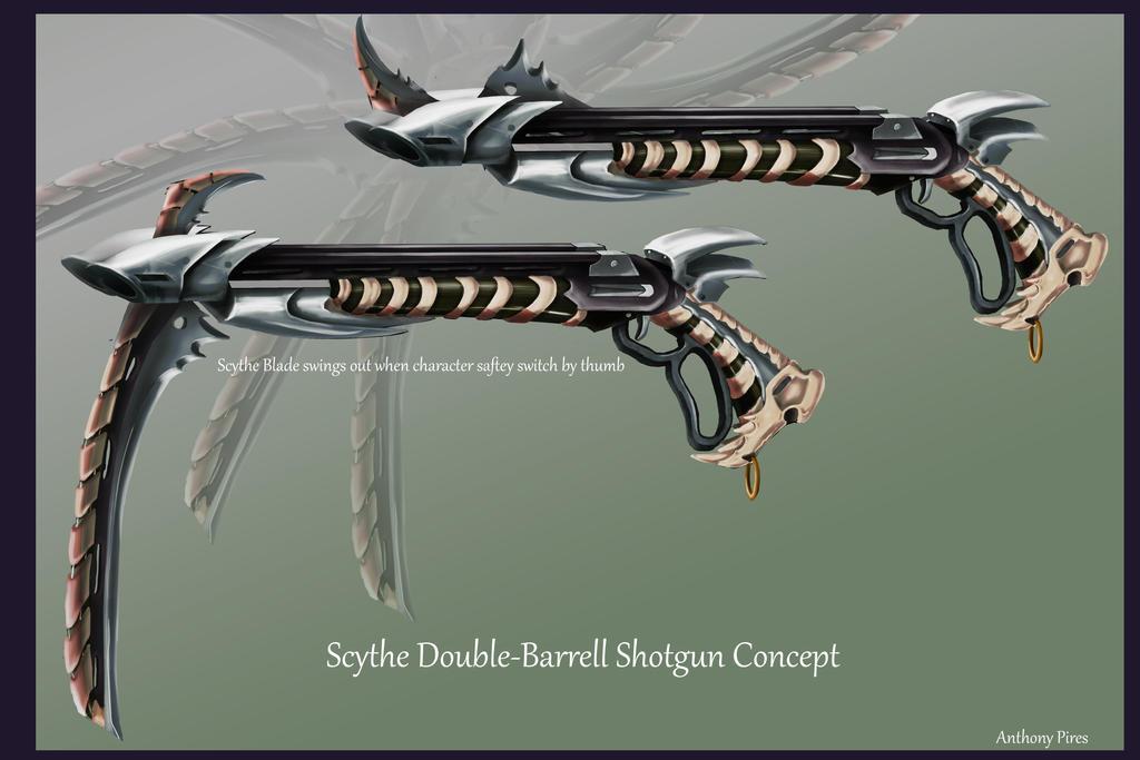 Double Barrel Shotgun Sythe by ArbiterAntwan