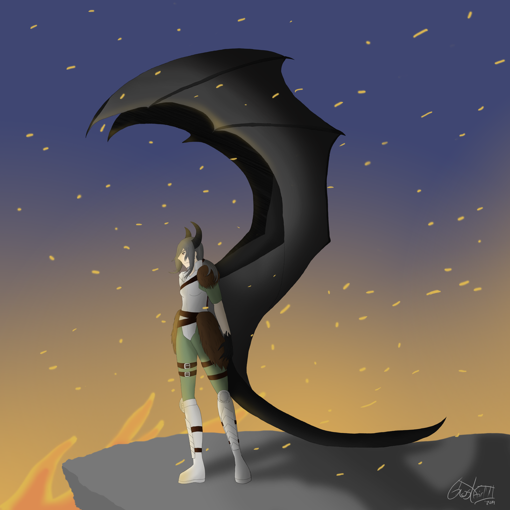 Hybrid dragon by GhostGirlVII