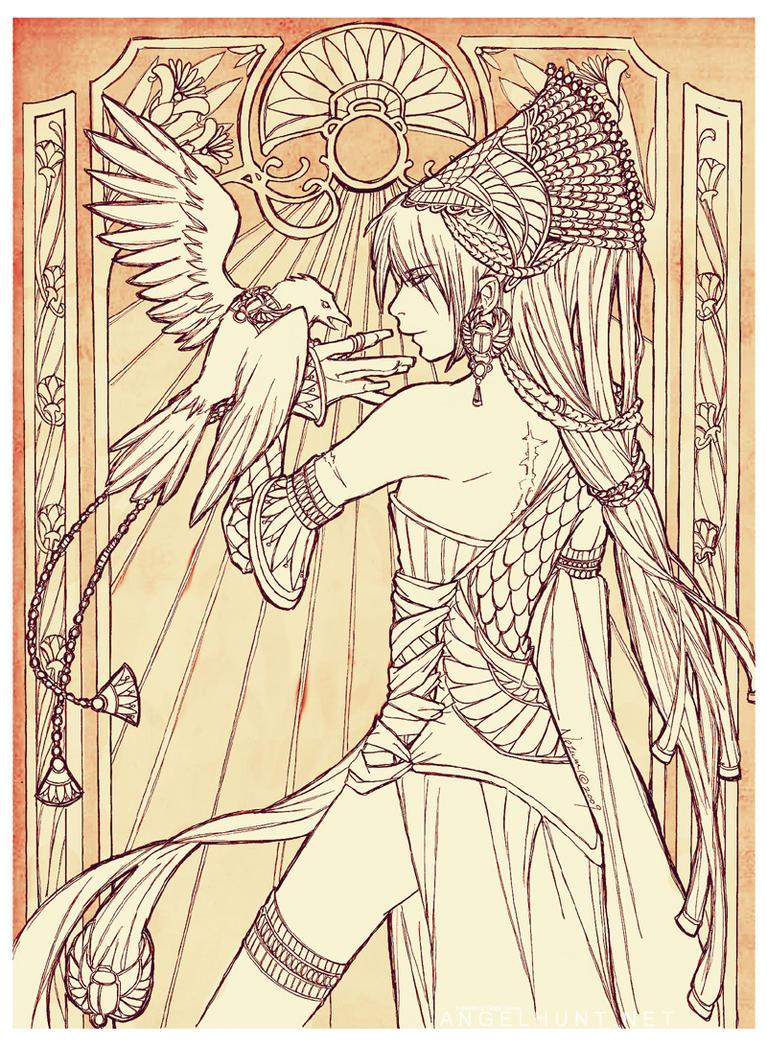 Angel Hunt : Raven by Nezumi-chuu