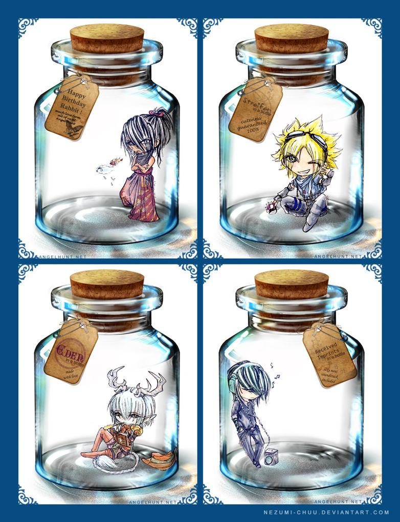 Bottled Birthday Cute by Nezumi-chuu