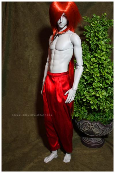 Shoppe : Red Silk Dhoti Pants by Nezumi-chuu