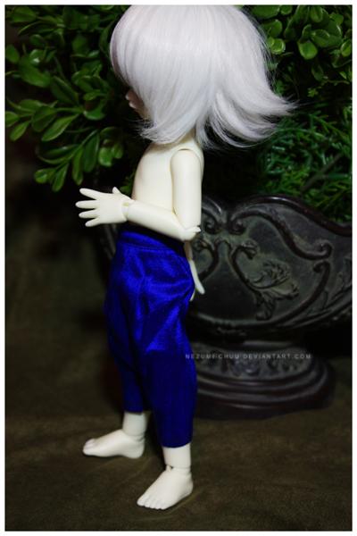 Shoppe : Blue Silk Dhoti Pants by Nezumi-chuu