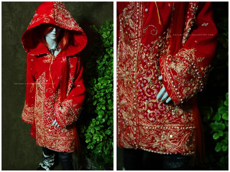 Shoppe : Crimson Red Traveling Coat by Nezumi-chuu