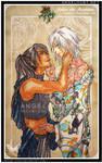 Under the Mistletoe : Kealani and Hisashi by Nezumi-chuu
