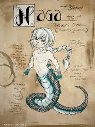 Angel Hunt Beastiary: Naga by Nezumi-chuu