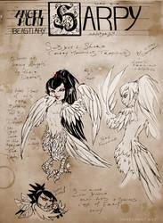 Angel Hunt Beastiary: Harpy by Nezumi-chuu