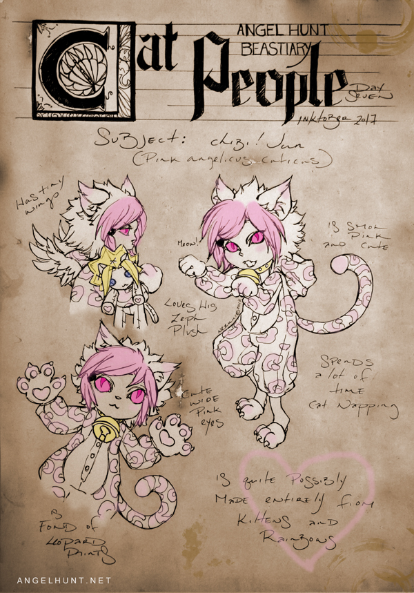 Angel Hunt Beastiary: Cat People by Nezumi-chuu