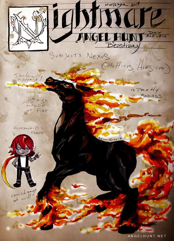 Angel Hunt Beastiary: Nightmare by Nezumi-chuu