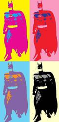 Batman 4 Panel Pop Art 4.0 by TheGreatDevin