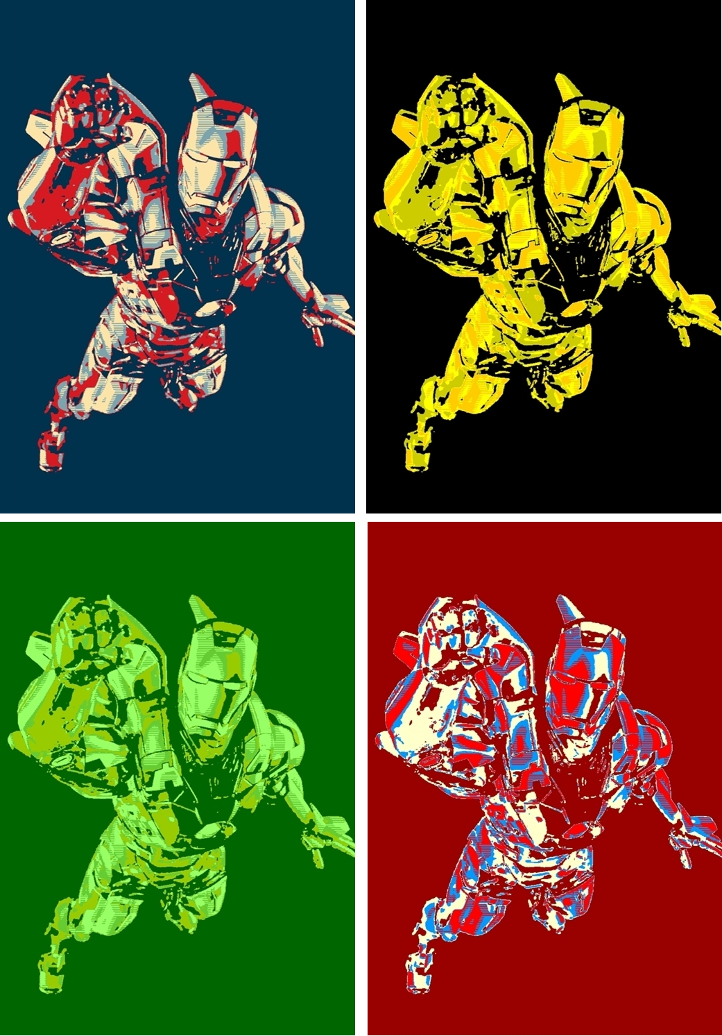 Iron Man Yes We Can Four Panel Pop Art By TheGreatDevin On DeviantArt