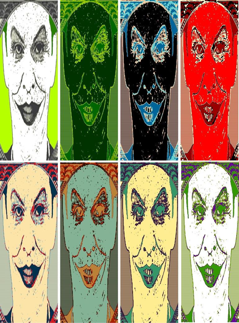 The Joker eight panel pop art by TheGreatDevin