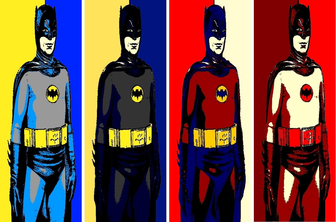 batman 1966 roy lichtenstein style pop art by. Black Bedroom Furniture Sets. Home Design Ideas