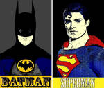 Batman and Superman pop art