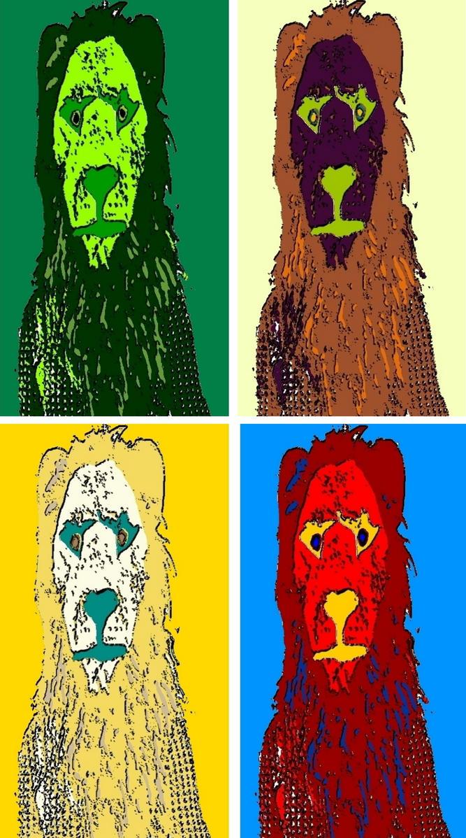 Lion Man pop art by TheGreatDevin