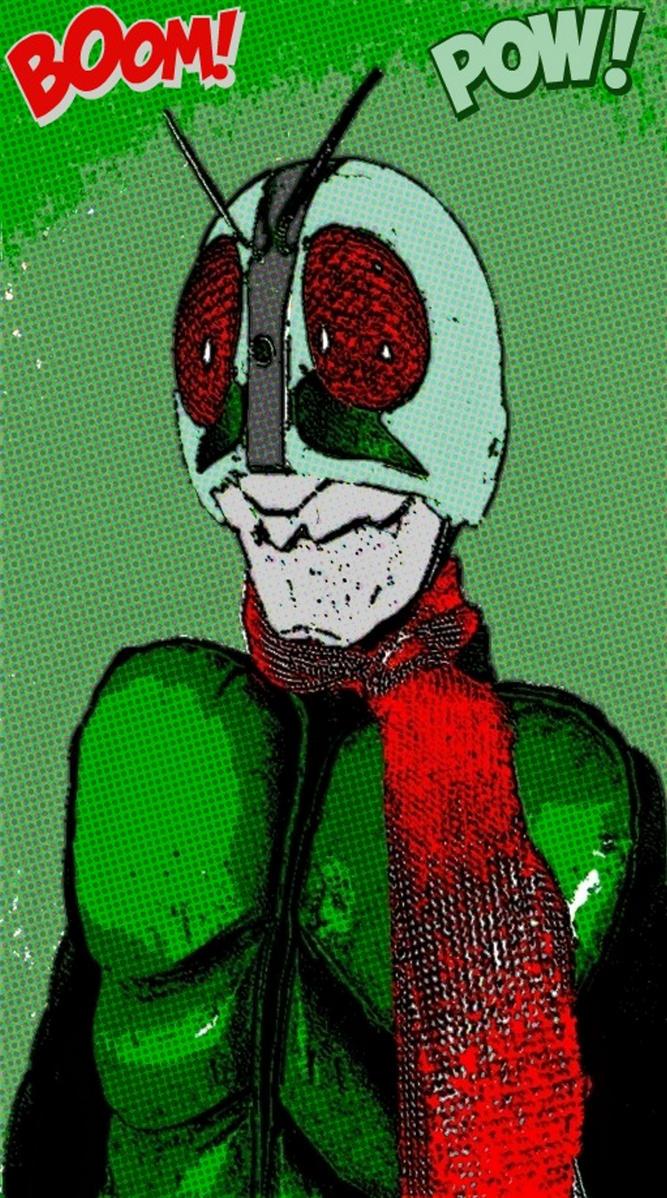 Kamen Rider 1 pop art returns by TheGreatDevin