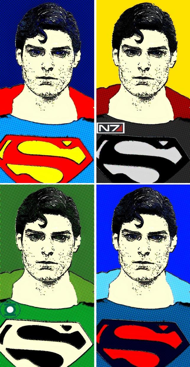 Superman comic print pop art 2 by TheGreatDevin