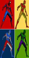 Spider-Man four panel comic print pop art