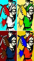 Street Fighter Ryu comic print popart