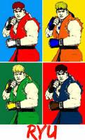 Street Fighter Ryu comic print popart 2