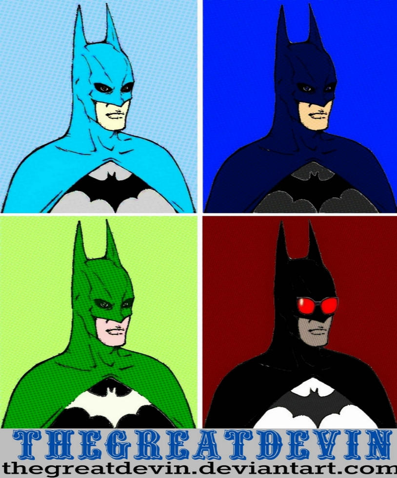 Batman four panel comic print pop art by TheGreatDevin
