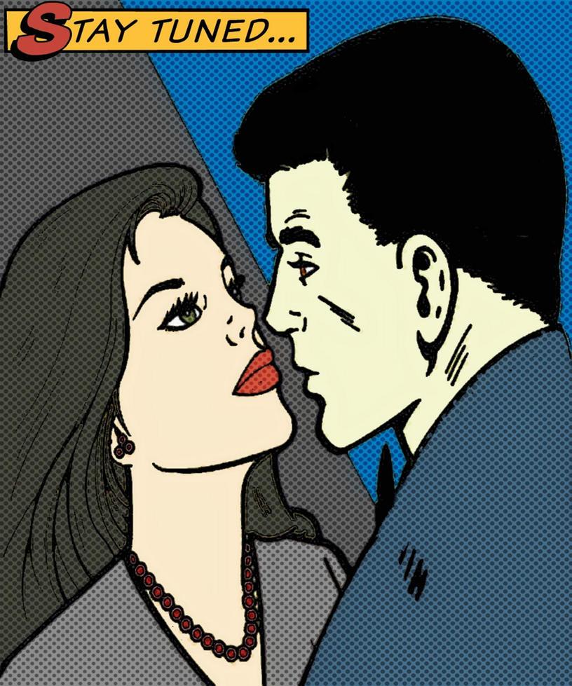 Selina Kyle and Bruce Wayne romance comic styled by TheGreatDevin