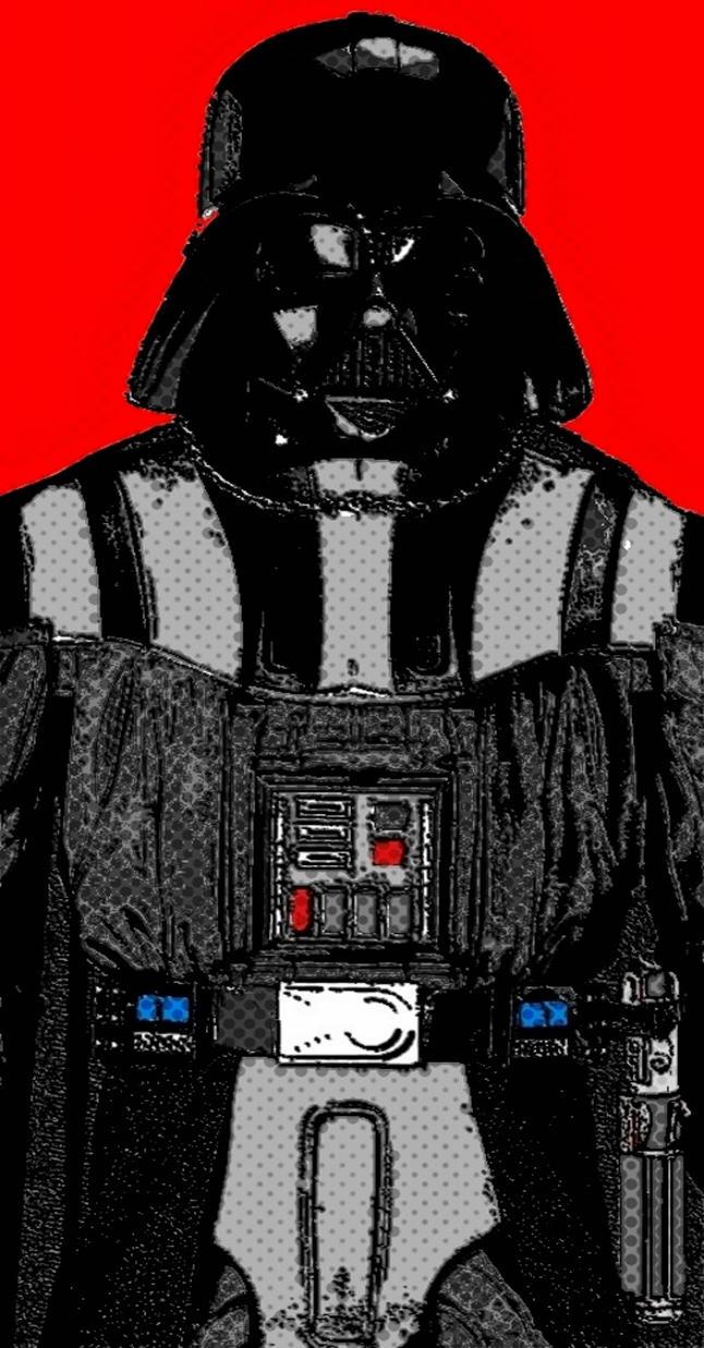 Darth Vader comic print pop art by TheGreatDevin