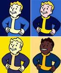 Fallout Vault Boy Video Game Comic Pop Art by TheGreatDevin