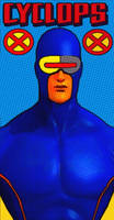 X-Men Cyclops Comic Style Pop Art by TheGreatDevin
