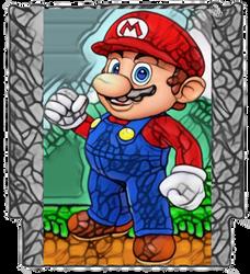 Super Mario Bros. Super Mario Art Nouveau by TheGreatDevin
