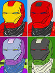 Iron Man Anime Comic Pop Art by TheGreatDevin