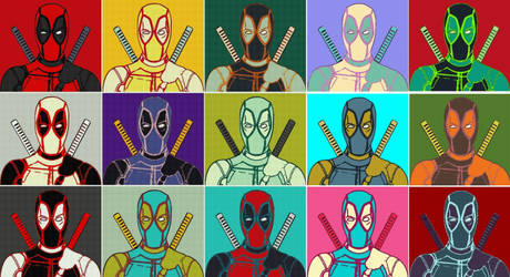 Marvel Deadpool Fifteen Panel Pop Art by TheGreatDevin
