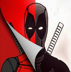Deadpool comic and manga pop art by TheGreatDevin