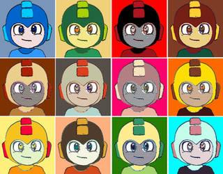 Mega Man Classic Twelve Pop Art by TheGreatDevin