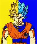 Dragon Ball Z/Super Goku Super Saiyan One And Blue by TheGreatDevin