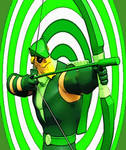 Oliver Queen Green Arrow DCAU by TheGreatDevin