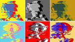 Sonic The Hedgehog Classic And Modern Pop Art by TheGreatDevin