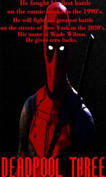 Deadpool three fan poster